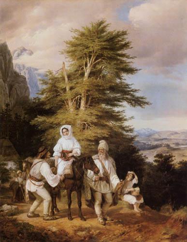 Miklós Barabás - Rumänische Familie auf dem Weg zum Markt