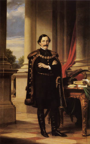 Miklós Barabás - Portrait of Laszlo Teleki