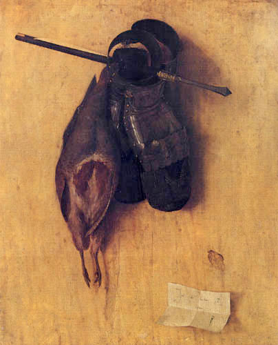 Jacobo de Barbari - Still life with partridge, arrow and gloves