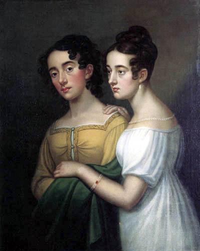 Marie Caroline Bardua - Self-portrait with her sister Wilhelmine