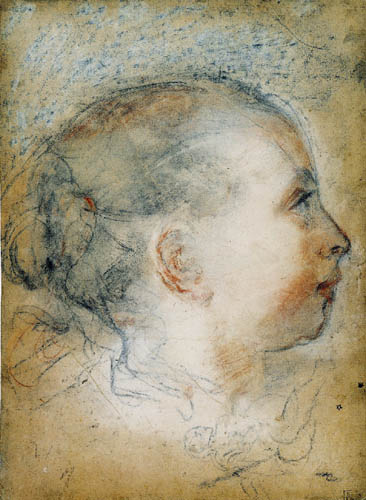 Federigo Barocci - Weiblicher Profilkopf