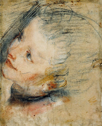 Federigo Barocci - Study for the Head of the Infant Jesus