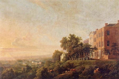 George Barret R.A. - Queen´s Terrace, Richmond - The Thames Beyond