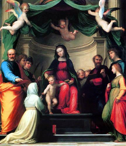 Fra Bartolommeo (di Pagholo del Fattorino) - The Mystic Marriage of Saint Catherine of Siena