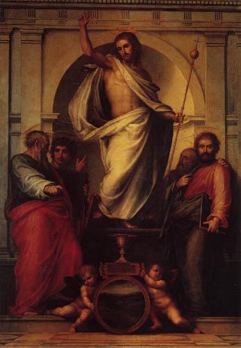 Fra Bartolommeo (di Pagholo del Fattorino) - Savator Mundi mit Heiligen