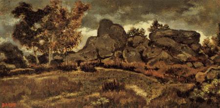 Antoine-Lois Barye - Landscape near Fontainebleau