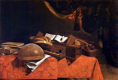 Evaristo Baschenis - Still Life with Musical Instruments