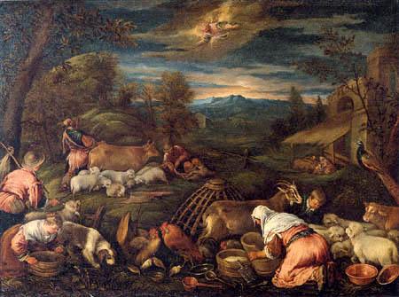 Francesco Bassano el Joven - Anunciación a los pastores