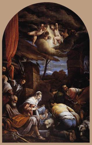 Jacopo Bassano - Adoration of the shepherds