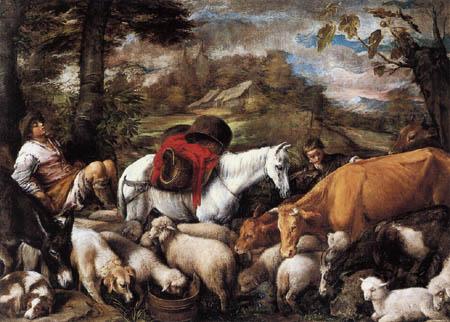 Jacopo Bassano - The Sleeping Shepherd
