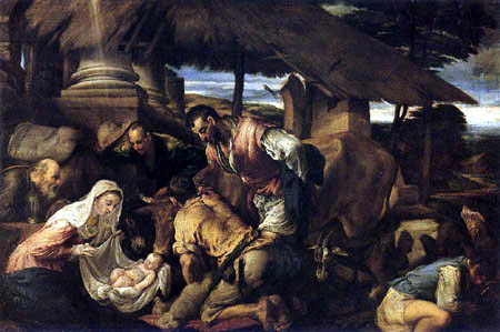 Jacopo Bassano - Adoration of the Shepherds