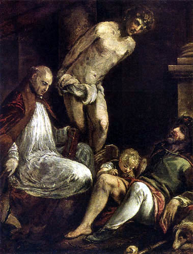 Jacopo Bassano - The Saints Fabian, Roch and Sebastian