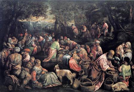 Jacopo Bassano - Feeding the multitude
