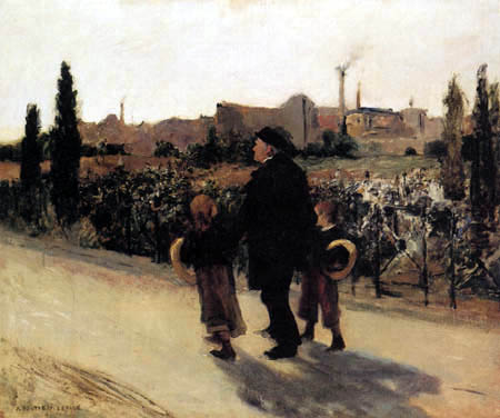Jules Bastien-Lepage - Sunday in commemoration of the dead