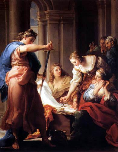 Pompeo Girolamo Batoni (Battoni) - Achilles at the court of Lycomedes