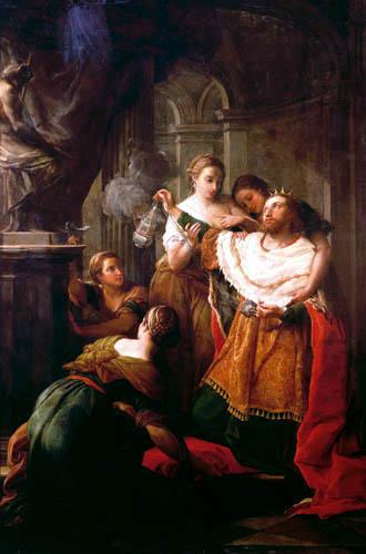 Pompeo Girolamo Batoni (Battoni) - Solomon verehrt die fremden Götter