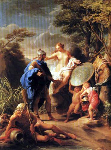 Pompeo Girolamo Batoni (Battoni) - Venus Delivers the Arms of Vulcan to Aeneas