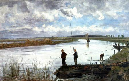 Paul Baum - Angler on the Warnow
