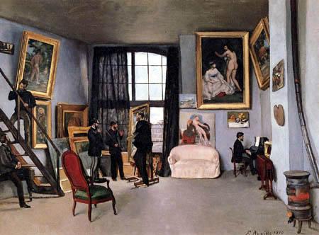 Jean-Frédéric Bazille - Das Atelier in der Rue La Condamine