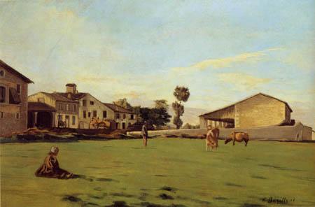 Jean-Frédéric Bazille - Cows, Saint-Sauveur