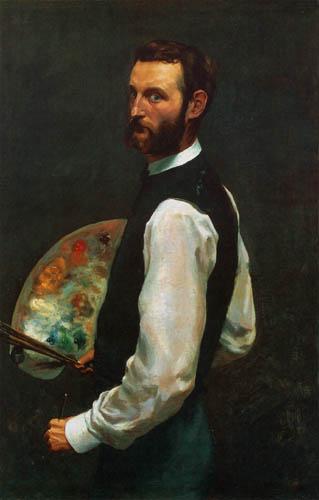 Jean-Frédéric Bazille - Autoportrait