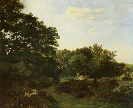 Jean-Frédéric Bazille - Waldstück bei Fontainebleau