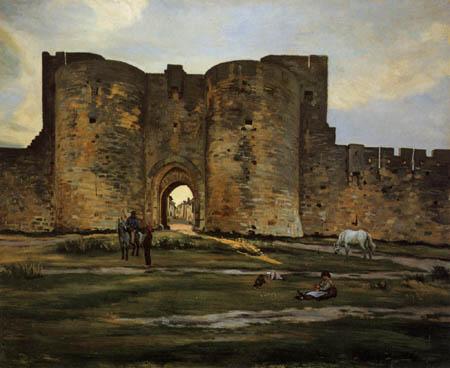 Jean-Frédéric Bazille - The gate of Aigues-Mortes