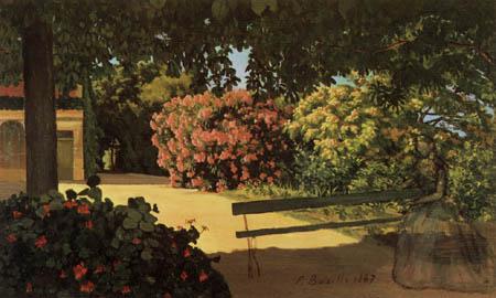 Jean-Frédéric Bazille - Jardin de Roses