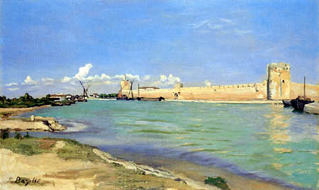 Jean-Frédéric Bazille - The Fortress of Aigues-Mortes