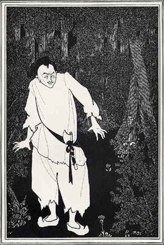 Aubrey Vincent Beardsley - Ali Baba in the Woods