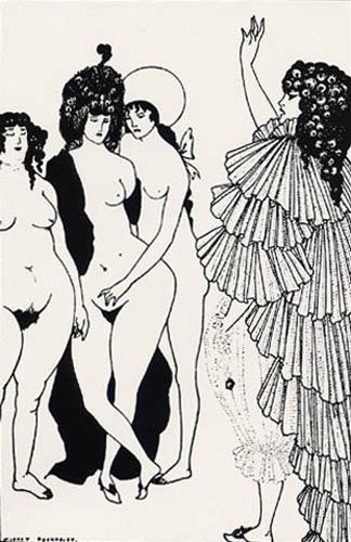 Aubrey Vincent Beardsley - Lysistrata Haranging Athenian Women