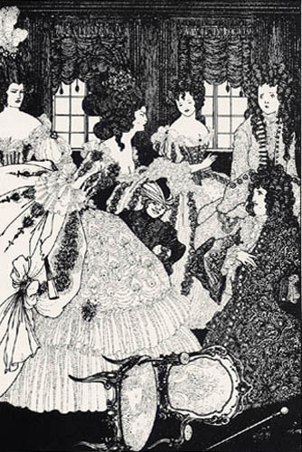 Aubrey Vincent Beardsley - The Battle of the Beaux and the Bells