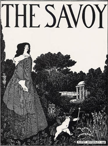 Aubrey Vincent Beardsley - The Savoy, Umschlagentwurf Nr.1