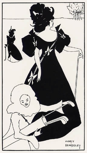 Aubrey Vincent Beardsley - Invitation card for  Mitcham Ladies Golf Club