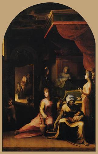 Domenico Beccafumi (il Mecarino, di Giacomo di Pace) - The Birth of Mary