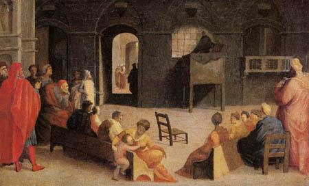Domenico Beccafumi (il Mecarino, di Giacomo di Pace) - The sermon by San Bernardino