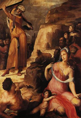 Domenico Beccafumi (il Mecarino, di Giacomo di Pace) - Moses smashed the tablets