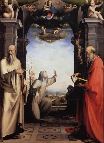 Domenico Beccafumi (il Mecarino, di Giacomo di Pace) - Stigmatisation of St. Catherine