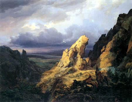 August Becker - Heroische Landschaft