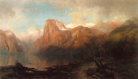 August Becker - Fjord landscape