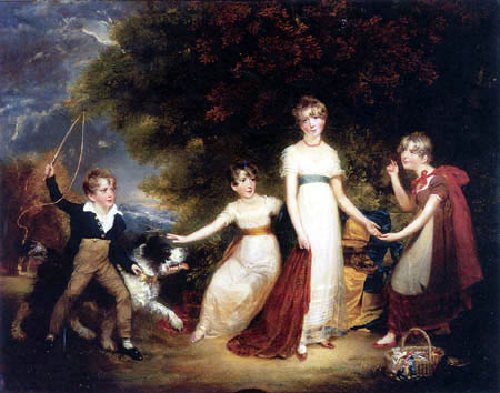 Sir William Beechey, R.A. - The Children of Sir Walter Stirling