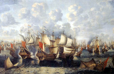Jan Abrahamsz. Beerstraten - The Battle of Sund on the 8th November 1658