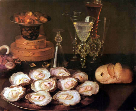 Osias Beert - Still Life with Oysters and Glasses