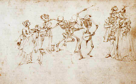Stefano della Bella - Death seizes the countess