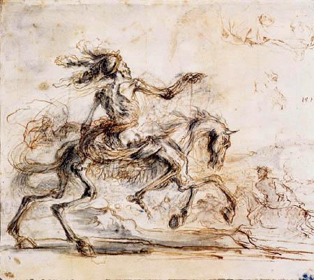 Stefano della Bella - Der Tod reitet über das Schlachtfeld