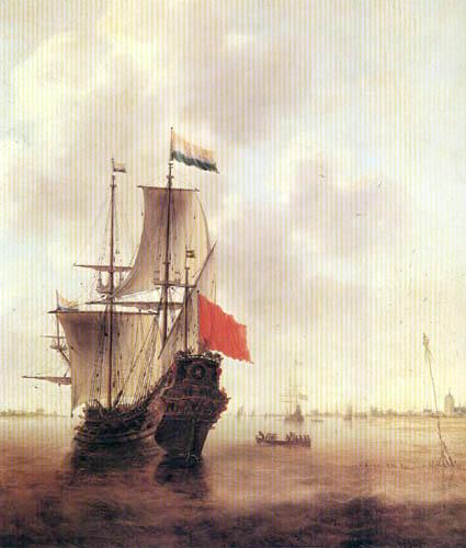 Jacob Adriaensz. Bellevois - Threemaster in the Roadstead of Veere
