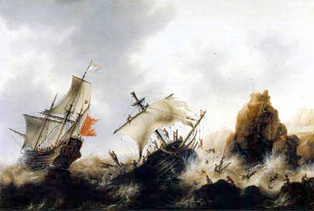 Jacob Adriaensz. Bellevois - Shipwrecked in a Storm