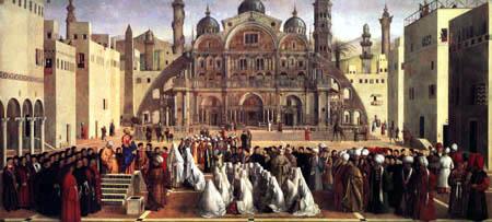 Gentile Bellini - Sermon in Alexandria