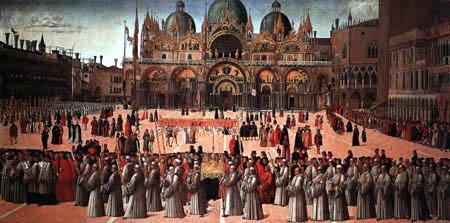 Gentile Bellini - Procession in the Piazza San Marco