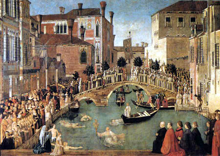 Gentile Bellini - The Salvation of the True Cross from the Water